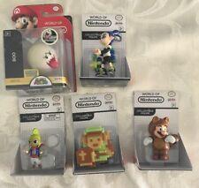World of Nintendo Lot Tanooki Mario Tetra 8 Bit Link Boo Inkling Boy
