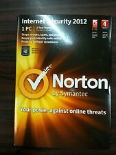 Norton by Symantec INTERNET SECURITY 2012 CD ROM 1 PC 1 Year Protection
