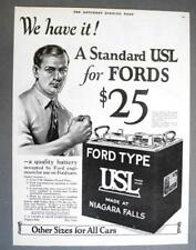 10x14 Original 1921 USL Battery Made for Fords Ad WE HAVE IT... A USL FOR FORDS