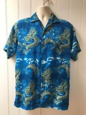 B-Boyz By Bruno Short Sleeve Button Front Dragon Boys Shirt Size XL 18/20