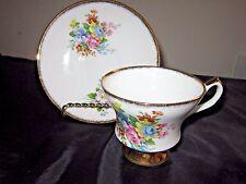 ROYAL Ardalt  Fine English Bone China Tea Cup and Saucer 2094G Flower & Gold