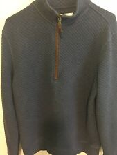 Mens SOUTHERN TIDE  Blue 1/4 Zip Pullover Cotton Sweater