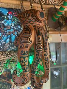 NEW Seconds Hanging Tattooed Octopus Lamp w/Green Float LEDTiki bar Smokin Tiki
