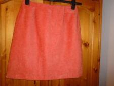 Orange textured knee length fully lined skirt, RICHARDS, size 10