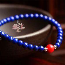 Natural lapis lazuli 6mm & red coral 8mm gemstone bracelet PB72
