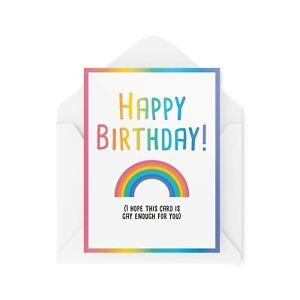 Funny Birthday Cards   LGBTQ+ Card   Best Friend Gay Lesbian Joke Work   CBH368