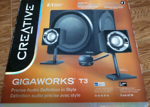 Creative GigaWorks T3 2.1 Multimedia Surround Sound $249 Retail !!!