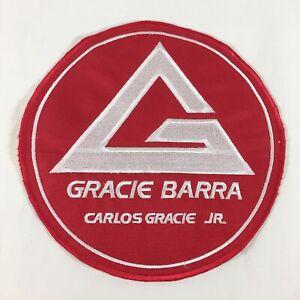"New Gracie Barra Brazilian Jiu-Jitsu MMA Red Embroidered Patch Unused 7.25"""