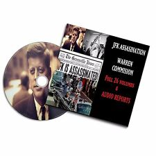 JFK ASSASSINATION COMMISSION  REPORT JOHN F KENNEDY KILLING 26 VOL + AUDIO #JFK