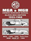 MGA & MGB Glove Box 1955-68 Workshop Manual (Brooklands Road Test Books) by B…