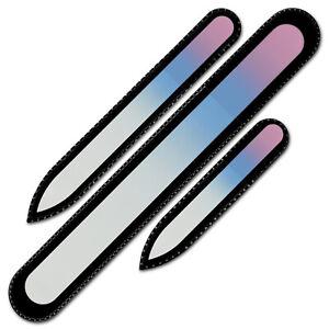 Mont Bleu Gift Set of 3 Glass Nail Files - Czech Crystal Nail Files for Girls