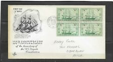 1947 US Artcraft FDC Scott #951 U.S. Frigate Constitution 150th Addressed Blk4