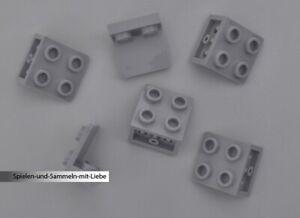 6x LEGO® KONVERTER 1 x 2 AUF 2 x 2 NOPPEN WINKELPLATTE INVERS 99207 NEU HELLGRAU