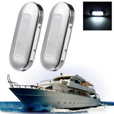 2x LED Marine Boat Yacht Stainless Steel Anchor Stern Light White 12V Waterproof