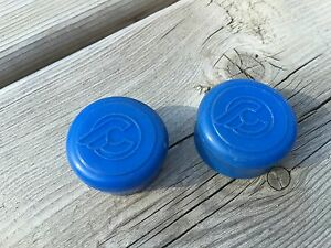 VINTAGE CINELLI HANDLEBAR END CAPS BAR END CAPS CAP PLUG PLUGS BARTAPE BLUE NOS