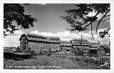Craters Lake Oregon Lodge Exterior Real Photo Antique Postcard K13195