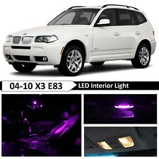 13 pcs Purple Error Free Interior LED Light Package Kit Fit 2004-2010 BMW X3 E83
