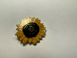 "Vintage ACME Studio Van Gogh ""Sunflower"" Brooch from Art Institute of Chicago"
