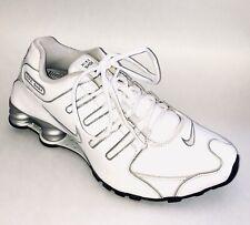 Nike Shox NZ SL Leather Crosstrainers Men's 9.5/Women 11 366363-111 White/Grey