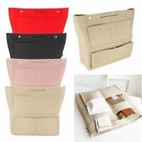 Multi pocket Felt Purse Handbag Organizer Insert Storage Tote Shaper Bag Large