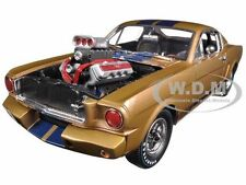 1965 FORD SHELBY MUSTANG GT 350R GOLD/BLUE 1/18 SHELBY COLLECTIBLES SC179