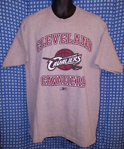Cleveland Cavaliers Heather Gray Reebok Heavy Weight T-Shirt - Mens Large