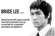 Bruce Lee Motivation FRIDGE MAGNET (2 x 3 inches)(AB)