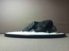 Natural polished Viewing stone suiseki-Solid black mountain island shape