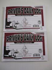 Lot of 2 JJ Keller 601LD Driver's Daily Log Book w/Detailed DVIR 2-Ply w/Carbon