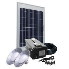 Solar Panel Kit 10W/12V, Lithium Battery 4Ah, 2 LED Lamps, USB adapter