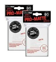 (120) ULTRA PRO Card Sleeves *PRO-MATTE WHITE SMALL* DECK PROTECTORS YuGi