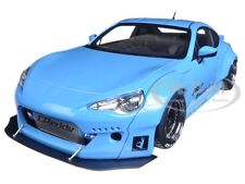 ROCKET BUNNY TOYOTA 86 METALLIC SKY BLUE WITH BLACK WHEELS 1/18 BY AUTOART 78758