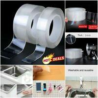 MAGIC Double sided Tape Washable Traceless Adhesive Tape Nano Invisible Gel Du