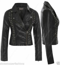 Studded Zip Faux Leather Coats & Jackets for Women