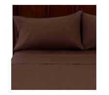 Mainstays 250-Thread-Count Sheet Set Costa Brown Twin Size