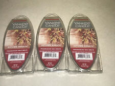 LOT of 3 Yankee Candle AUTUMN WREATH Fragrance Wax Melts NEW 0101B