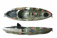 SIT ON TOP FISHING KAYAK CANOE GALAXY GRAYLING - JUNGLE CAMOUFLAGE