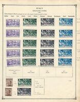 Italy Occupations Collection 1901 on 2 Scott International Pages