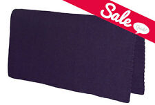 "NEW DARK PURPLE Western Stock Saddle Show Pad Blanket New Zealand Wool 32"" x 32"""