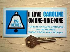 Radio Caroline Radio Pirata Clásico Auto Adhesivo 60 autocollant Retro Vintage