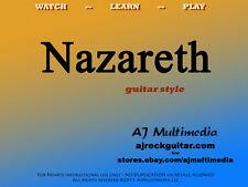 Custom Guitar Lessons, learn Nazareth - Dvd Video