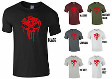 Para Hombre Mma Calavera Camiseta Gym Culturismo motivación de la formación de entrenamiento lucha