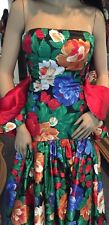 High Quality Italian Satin Floral Flamenco Spanish Dance Dress W Bolero X SMALL