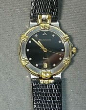Maurice LaCroix Calypso 95346 Black Dial Stainless Steel/Gold Plated Wrist Watch