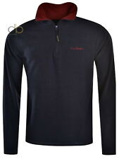 Pierre Cardin Fleece Mens Navy Warm 1/4 Zip Neck Jumper, Jacket  Size 3XL XXXL