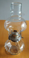 Vintage Lamplight Farms glass oil lamp, hobnail glass base and chimney (Nr. 212)