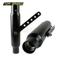"""New Black 2 Pcs Motorcycle Exhaust Pipe Mufflers Silencers 12"""" Long Universal"""