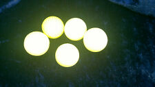 4 Balles mousse de golf jaune + 1 coquille 1/2 balle diamètre 4 cm (excelsior)