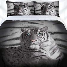 Blue Eyes Stripe White Tiger Duvet | Doona Quilt Cover Set | King
