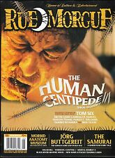 RUE MORGUE 156 HORROR FILM MAGAZINE SUGAR HILL HUMAN CENTIPEDE III THE SAMURAI